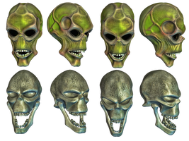 Fantasy Skulls by Roy3D