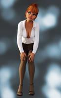 Sexy Little Pinup Teacher by Roy3D