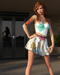 Girl Posing by Roy3D