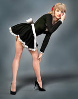 Retro Pinup Maid by Roy3D