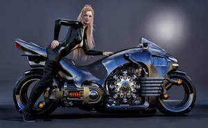 Hot Biker by Roy3D