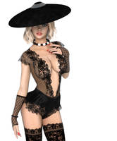 Hat And Lace by Roy3D