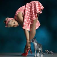 Retro Girl by Roy3D