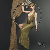 Hoop Girl by Roy3D