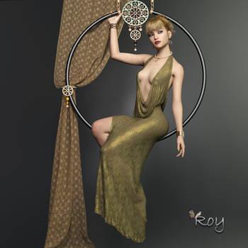 Hoop Girl by Roy3D