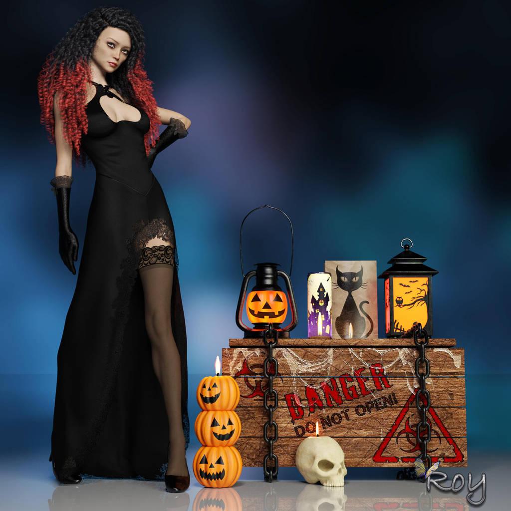 Halloween Widow by Roy3D