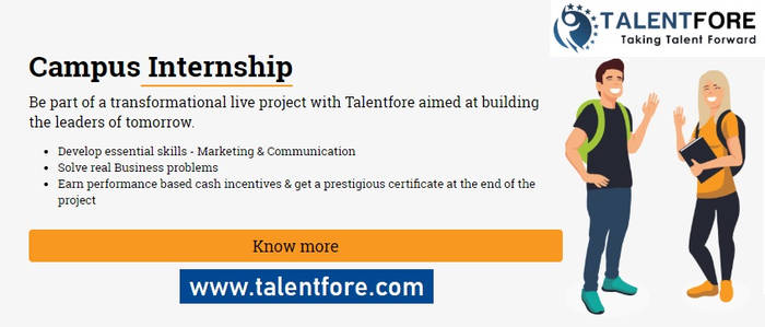 College Internship, Online Internship by Talentfore