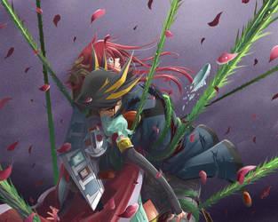 Aki y Yusei by Gazlene