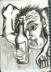 Drunk Man by puckatdeviantart