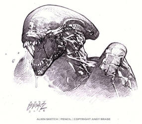 Alien Sketch by andybrase