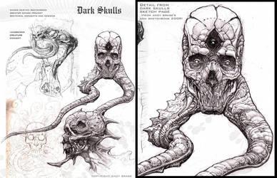 Dark Skulls- sketch page by andybrase