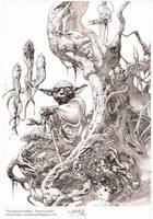 Swamp Dweller- pencil by andybrase