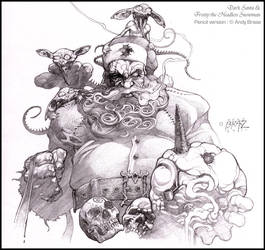 Dark Santa and Headless Frosty: Pencil by andybrase