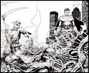 Swamp Thing 19: INK only by andybrase