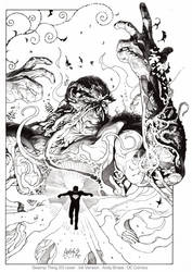 Swamp Thing 20: Ink (DC cover) by andybrase