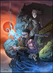 Diabolist: George RR Martin, Neil Gaiman cover by andybrase