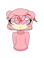 Angry bean [DDLC] by EvelynDrawz