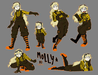 Poses Practice - Molly Helton by Reysaurus