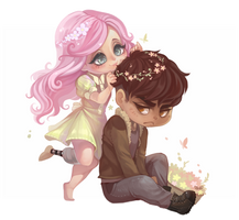 Our Garden - Chibi Commission by clover-teapot