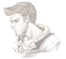 Dakota - Digital Sketch Commission by clover-teapot