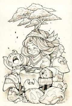 Inktober day 28 - The Elders by clover-teapot