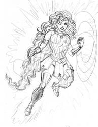 Mashup Starfire and Wonder Woman by nautilebleu