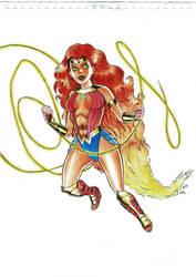 Mashup Wonder Woman Starfire by nautilebleu