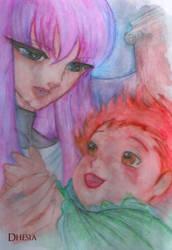 Kouga and Saori by Dhesia