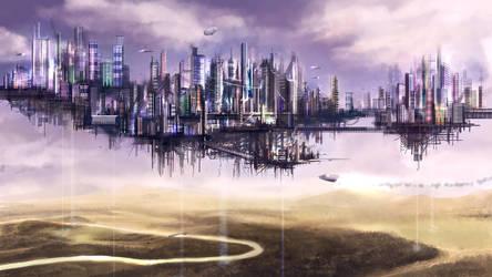 Laputa The Flying City by solartistic
