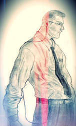 Red Line Security Man by AbouKaiser