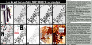 + How to do the LineArt + by Arehandora