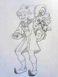 Happy Mask Salesman by QuackingMoron