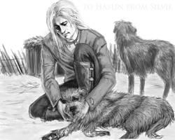 skaldi wolfhounds by XsilverleenX