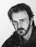 Pencil and Ink Richard Speight, Jr./Gabriel by EnderBerlyn