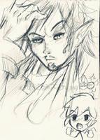 Linebeck - Zelda Phantom Hourglass by CrimsonxCrime