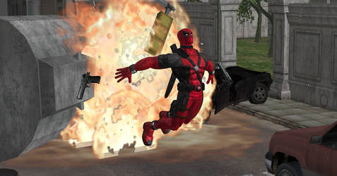 DeadPool Explosion by day-wing