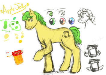 Apple Jelly - Design Sketch by StrangeComet