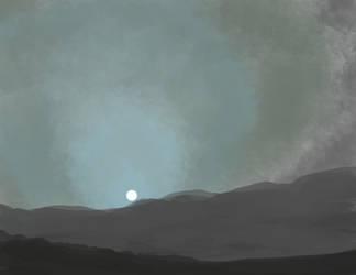 Quick Sketch - Mars Sunset by glomska