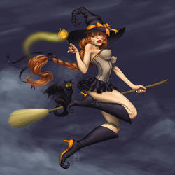 Halloween Girl by GEIKOUart