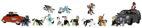 Ponified GTA protagonists (GTA2 to GTA V) by King-Kakapo