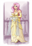 Formal Dress Fluttershy by King-Kakapo