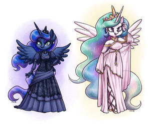 Well-Dressed Princesses by King-Kakapo