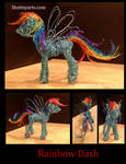 Rainbow Dash wire sculpture by shottsy85