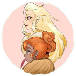 Vulpix and Ninetales Gijinkas by TheMagicalMimi
