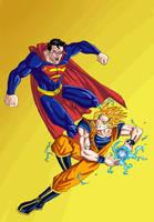 Superman vs. Goku by phil-cho