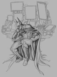 Batman thinks by phil-cho