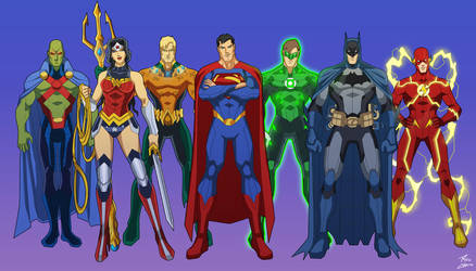 The Justice League by phil-cho