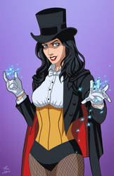 Zatanna Magician (Earth-27) commission by phil-cho