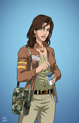 Lois Lane (Earth-27) commission by phil-cho