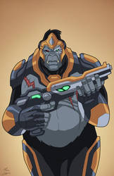 Gorilla Grodd (Earth-27) commission by phil-cho